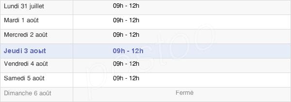 horaires d'ouverture de la Mairie De Merris