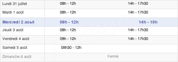 horaires d'ouverture de la Mairie D'Escobecques
