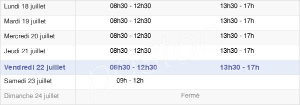 horaires d'ouverture de la Mairie De Lambersart