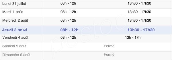 horaires d'ouverture de la Mairie De Leval
