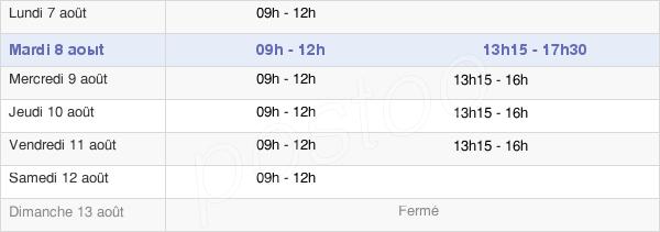 horaires d'ouverture de la Mairie De Hérisson