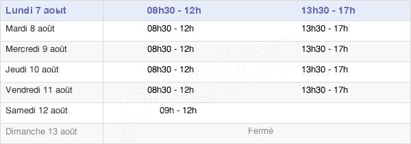 horaires d'ouverture de la Mairie De Thiant