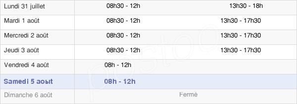 horaires d'ouverture de la Mairie D'Houplin-Ancoisne