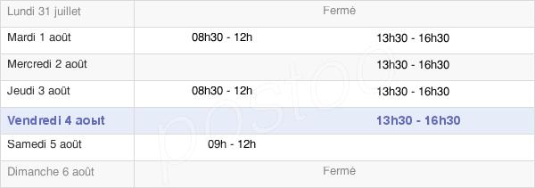 horaires d'ouverture de la Mairie D'Audes