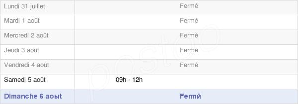 horaires d'ouverture de la Mairie De Carnin
