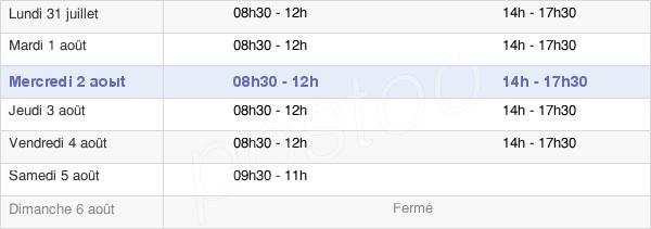 horaires d'ouverture de la Mairie D'Auby