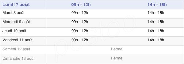 horaires d'ouverture de la Mairie De Montrevel-En-Bresse