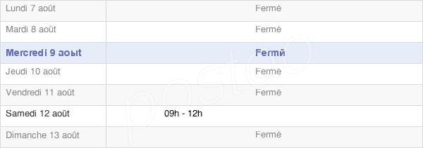 horaires d'ouverture de la Mairie De Saint-Laurent-Sur-Saône