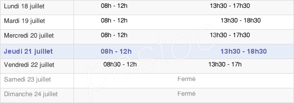 horaires d'ouverture de la Mairie De Montluel