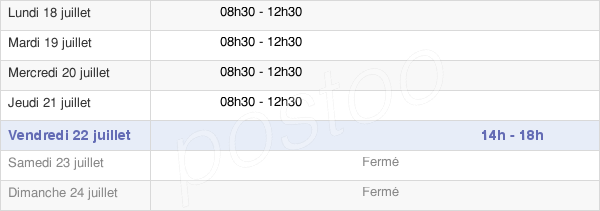 horaires d'ouverture de la Mairie De Peyzieux Sur Saone