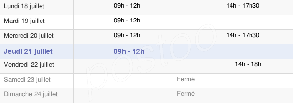 horaires d'ouverture de la Mairie De Grièges