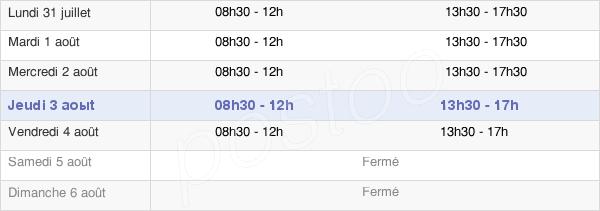 horaires d'ouverture de la Mairie De Dortan