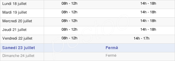 horaires d'ouverture de la Mairie De Ferney-Voltaire