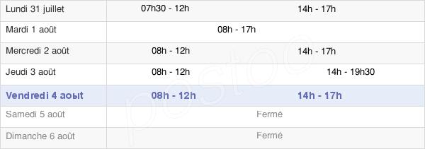 horaires d'ouverture de la Mairie De Divonne-Les-Bains