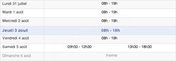 horaires d'ouverture de la Mairie de Vichy