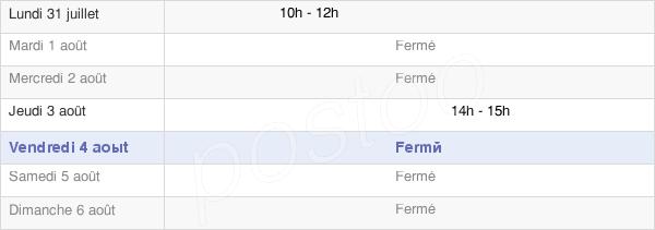 horaires d'ouverture de la Mairie De Servignat