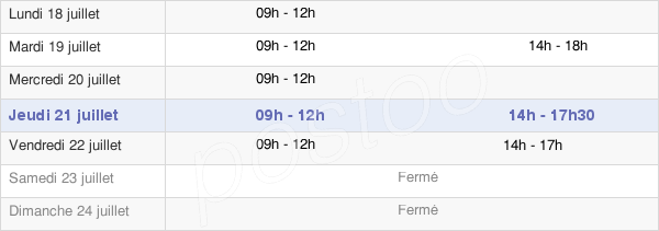 horaires d'ouverture de la Mairie De Pont-De-Veyle