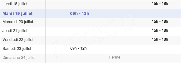 horaires d'ouverture de la Mairie De Fareins
