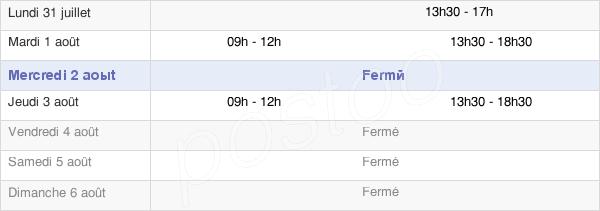 horaires d'ouverture de la Mairie De Salavre
