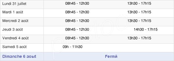 horaires d'ouverture de la Mairie De Fontaine-Le-Comte