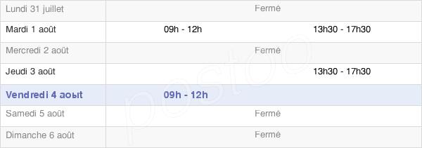 horaires d'ouverture de la Mairie De Sainte-Radegonde