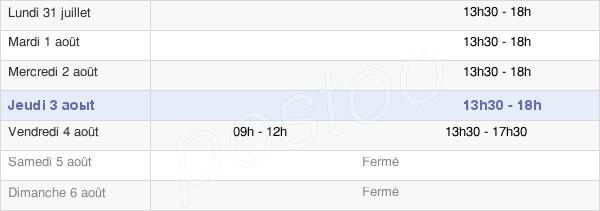 horaires d'ouverture de la Mairie De Lésigny