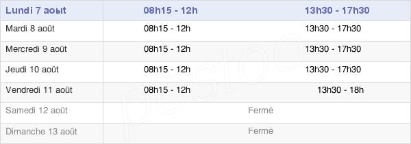 horaires d'ouverture de la Mairie De Smarves