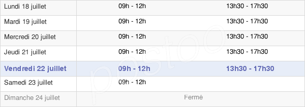 horaires d'ouverture de la Mairie De Prémilhat