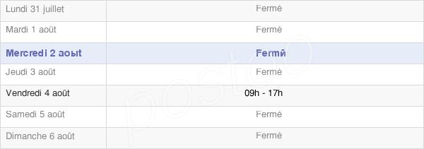horaires d'ouverture de la Mairie De Cissé