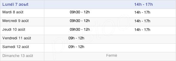 horaires d'ouverture de la Mairie De Savigné