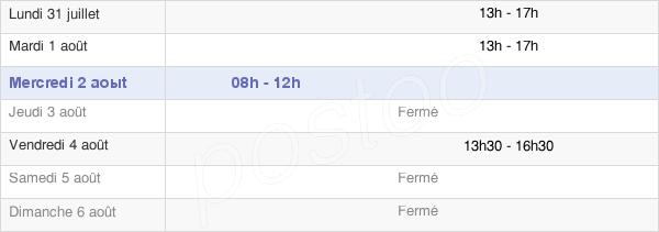 horaires d'ouverture de la Mairie De Mouterre-Silly