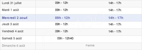 horaires d'ouverture de la Mairie De Saint Julien L'Ars
