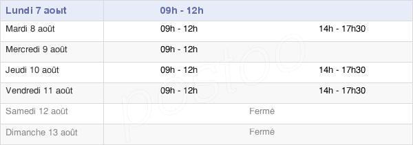 horaires d'ouverture de la Mairie De Saint-Pierre-D'Exideuil