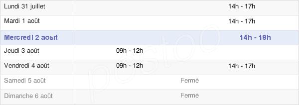 horaires d'ouverture de la Mairie D'Angliers