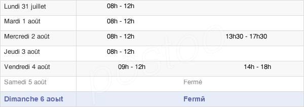 horaires d'ouverture de la Mairie D'Oyré
