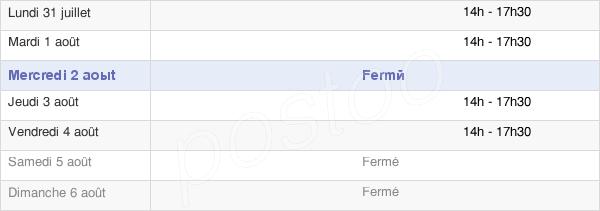 horaires d'ouverture de la Mairie De Mouterre-Sur-Blourde