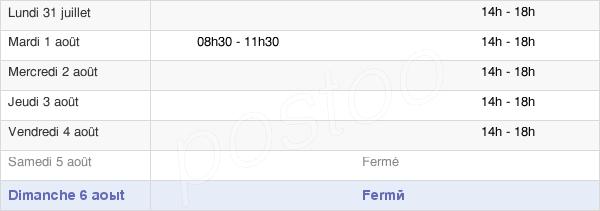 horaires d'ouverture de la Mairie De La Villedieu-Du-Clain