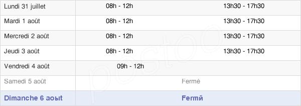 horaires d'ouverture de la Mairie De Vicq Sur Gartempe