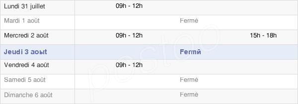 horaires d'ouverture de la Mairie D'Amberre