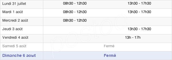 horaires d'ouverture de la Mairie De La Chapelle-Viviers