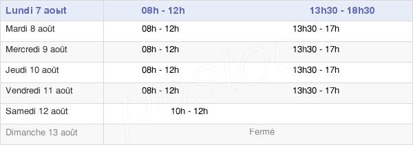 horaires d'ouverture de la Mairie De Chiré-En-Montreuil