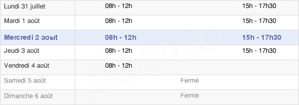 horaires d'ouverture de la Mairie De Vivonne