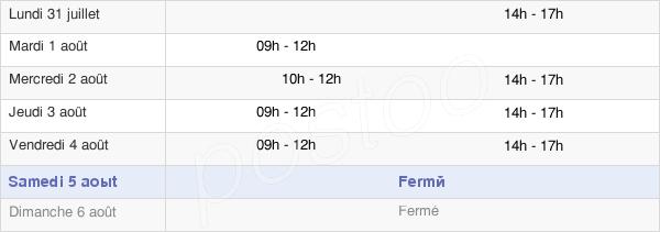 horaires d'ouverture de la Mairie De Verrières