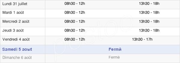 horaires d'ouverture de la Mairie De La Trimouille