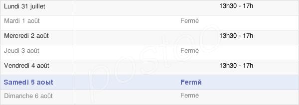 horaires d'ouverture de la Mairie D'Usseau
