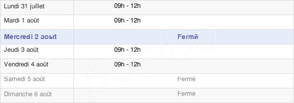 horaires d'ouverture de la Mairie De Voulême