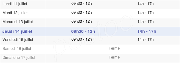 horaires d'ouverture de la Mairie De Saint Pierre De Maillé