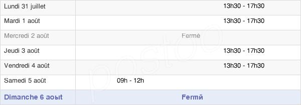 horaires d'ouverture de la Mairie De La Chapelle Mouliere