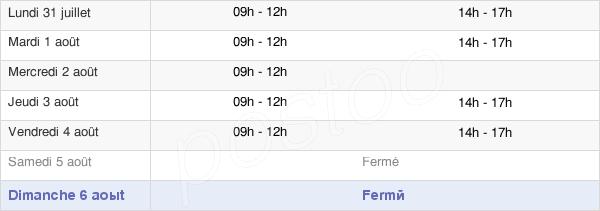 horaires d'ouverture de la Mairie De Lhommaizé