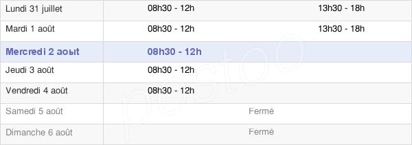 horaires d'ouverture de la Mairie De Magné